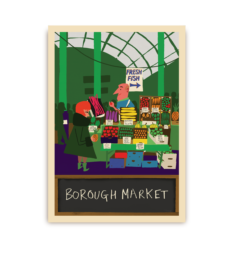 Borough Market Postcard - Lagom Design