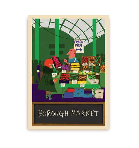 Borough Market Postcard