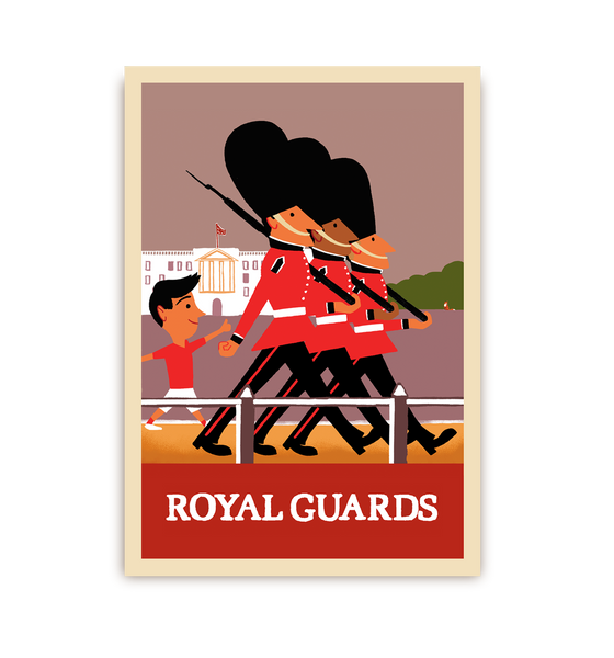 Royal Guards Postcard