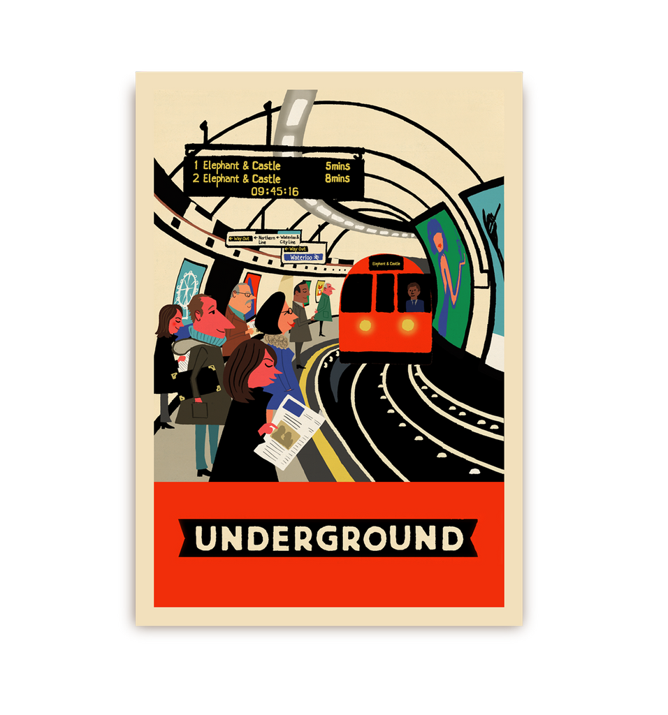 London Underground Postcard
