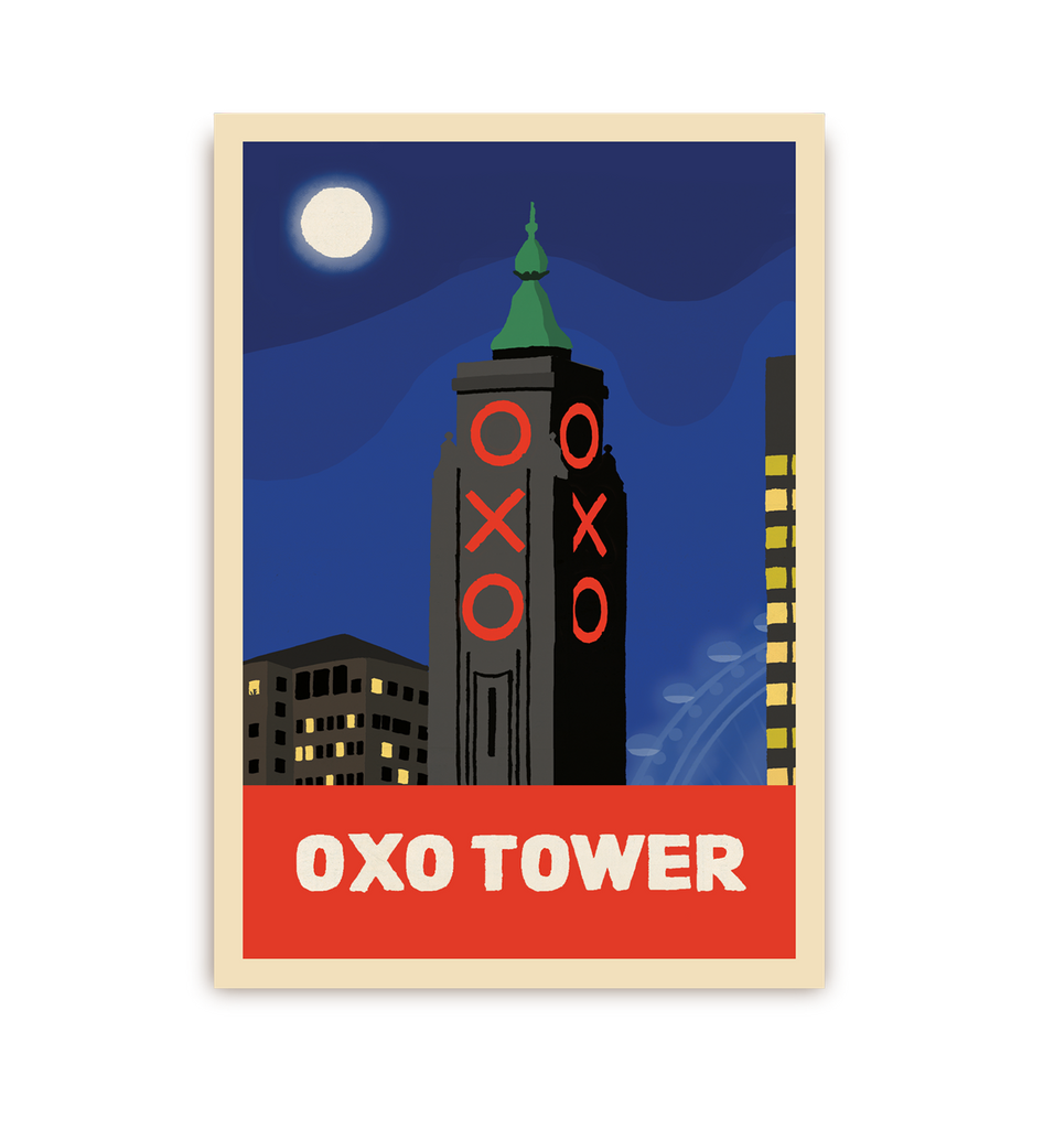 Oxo Tower Postcard - Lagom Design