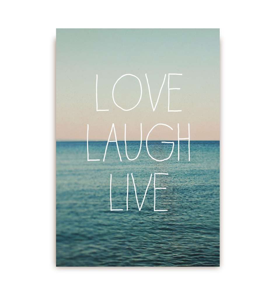 Love Laugh Live Postcard - Lagom Design