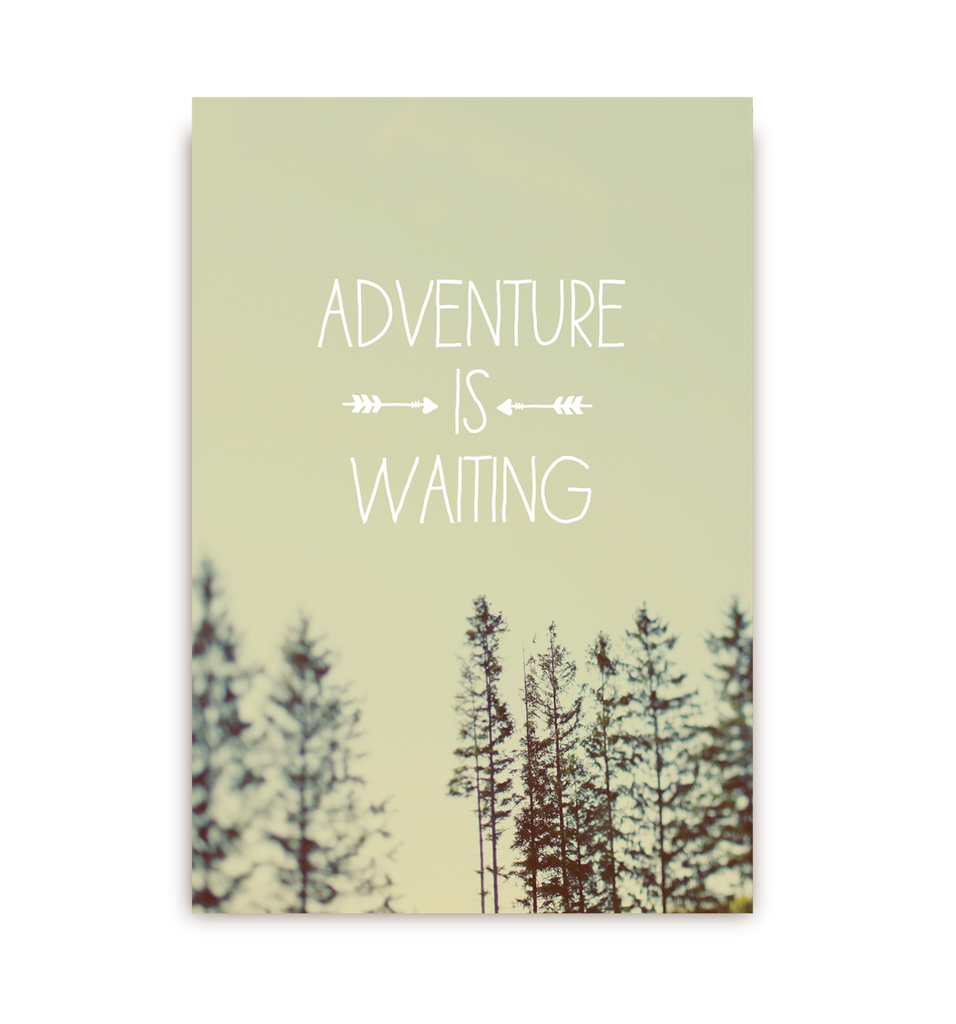 Adventure Is Waiting Postcard - Lagom Design