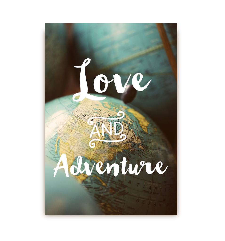 Love and Adventure Postcard