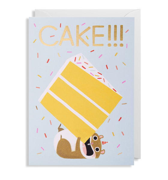 Cake!!! Hamster Greeting Card - Lagom Design