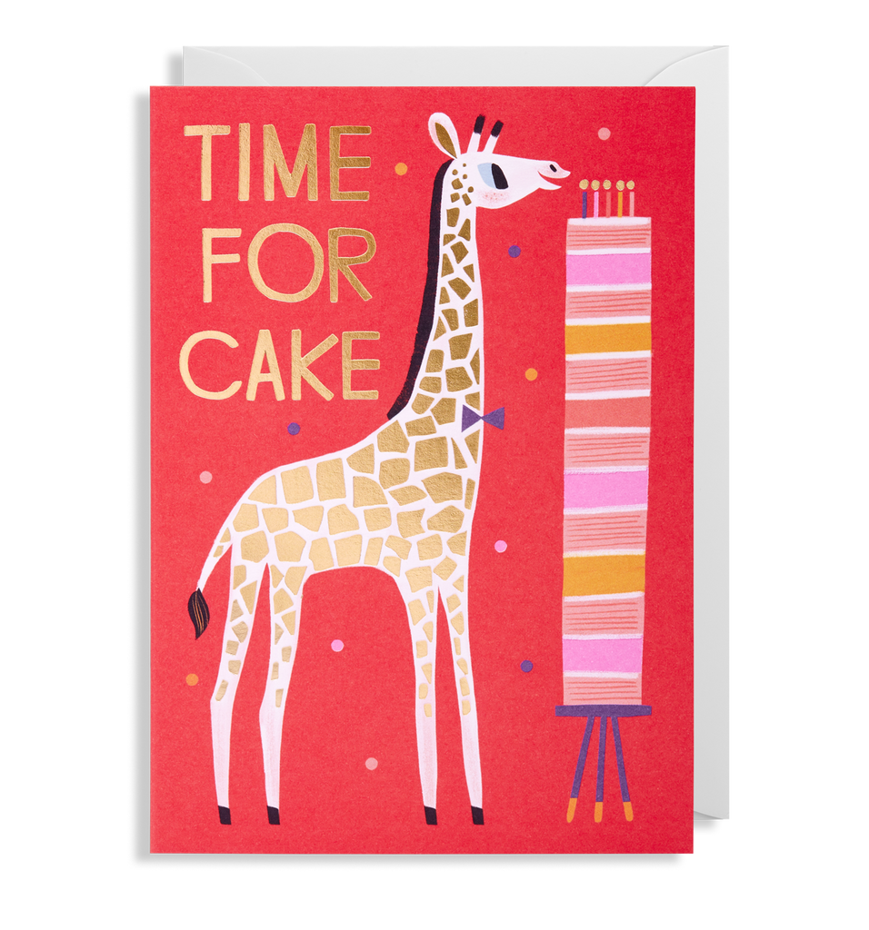 Time For Cake Greeting Card