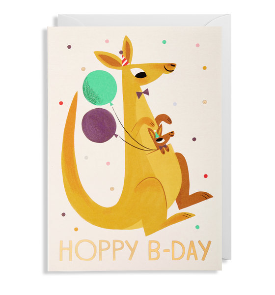 Hoppy Bday Kangaroo Greeting Card - Lagom Design