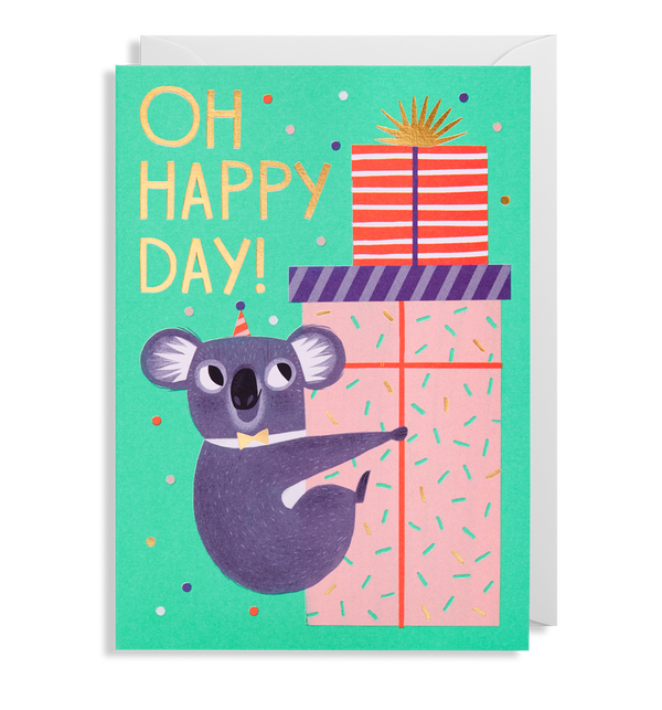 Oh Happy Day Koala Greeting Card - Lagom Design
