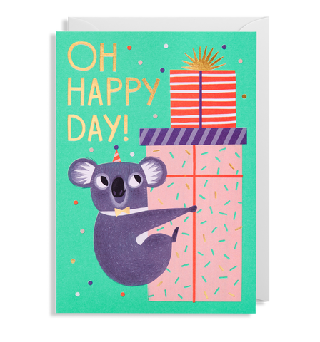 Oh Happy Day Koala Greeting Card
