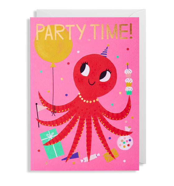 Party Time! Octopus Greeting Card