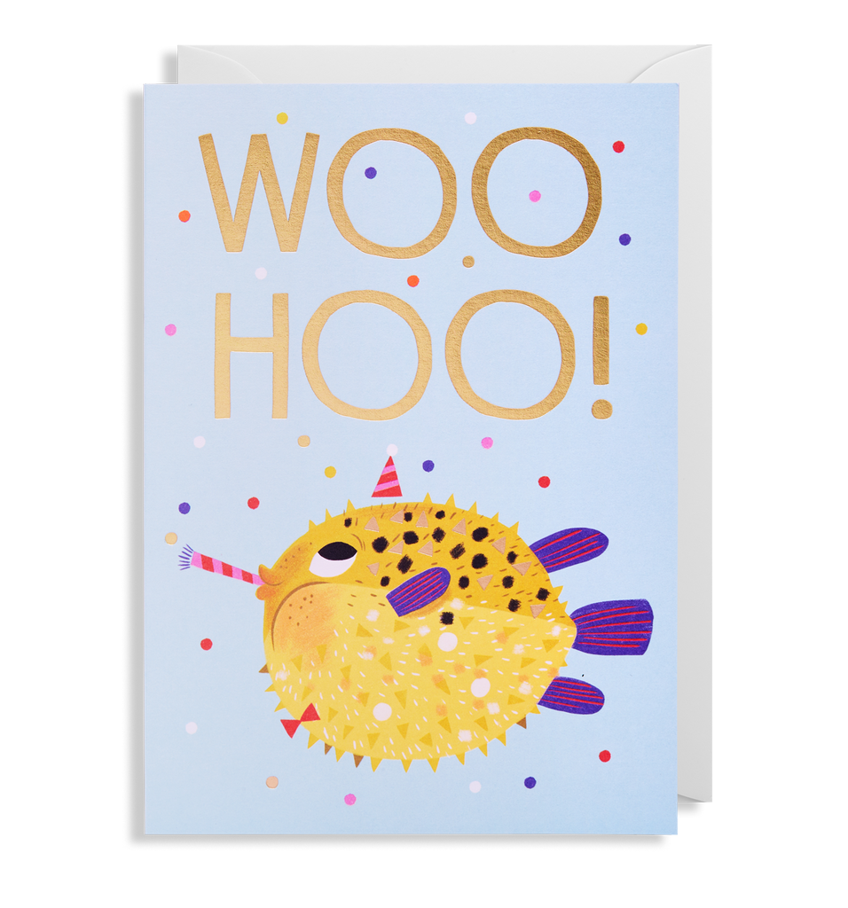 Woohoo Puffer Greeting Card
