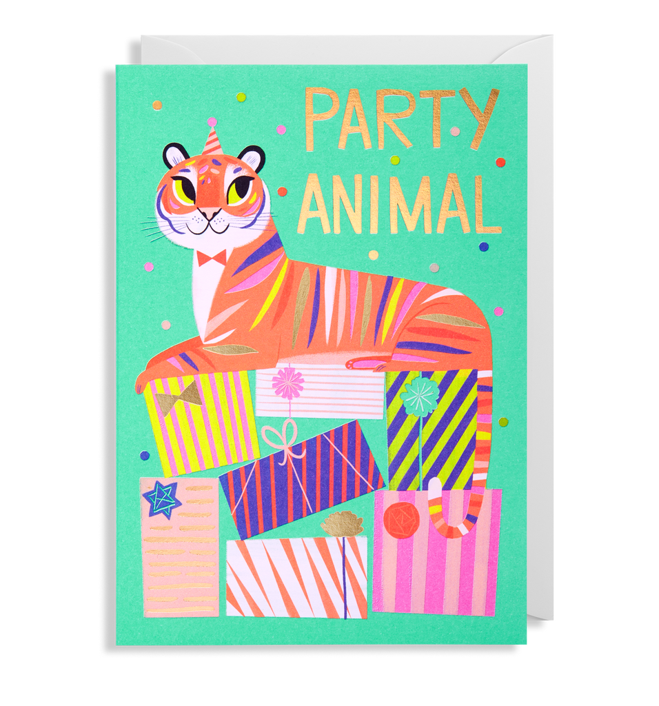 Tiger Part Animal Greeting Card