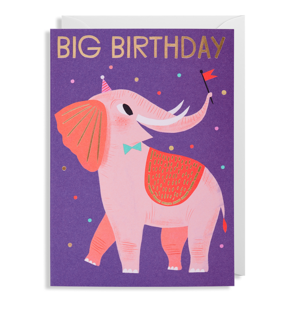 Elephant Birthday Greeting Card - Lagom Design