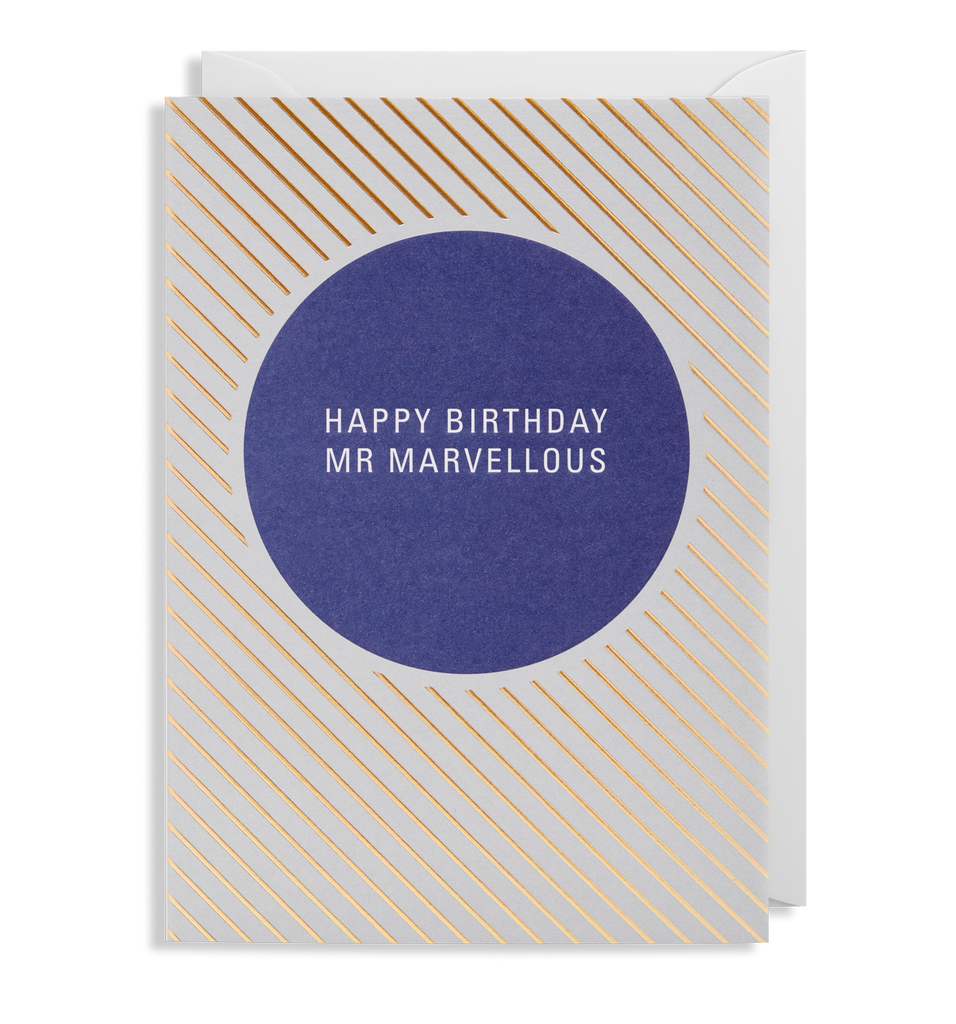 Happy Birthday Mr Marvellous Greeting Card
