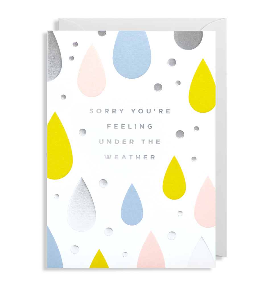 Sorry You're Feeling Under The Weather Greeting Card