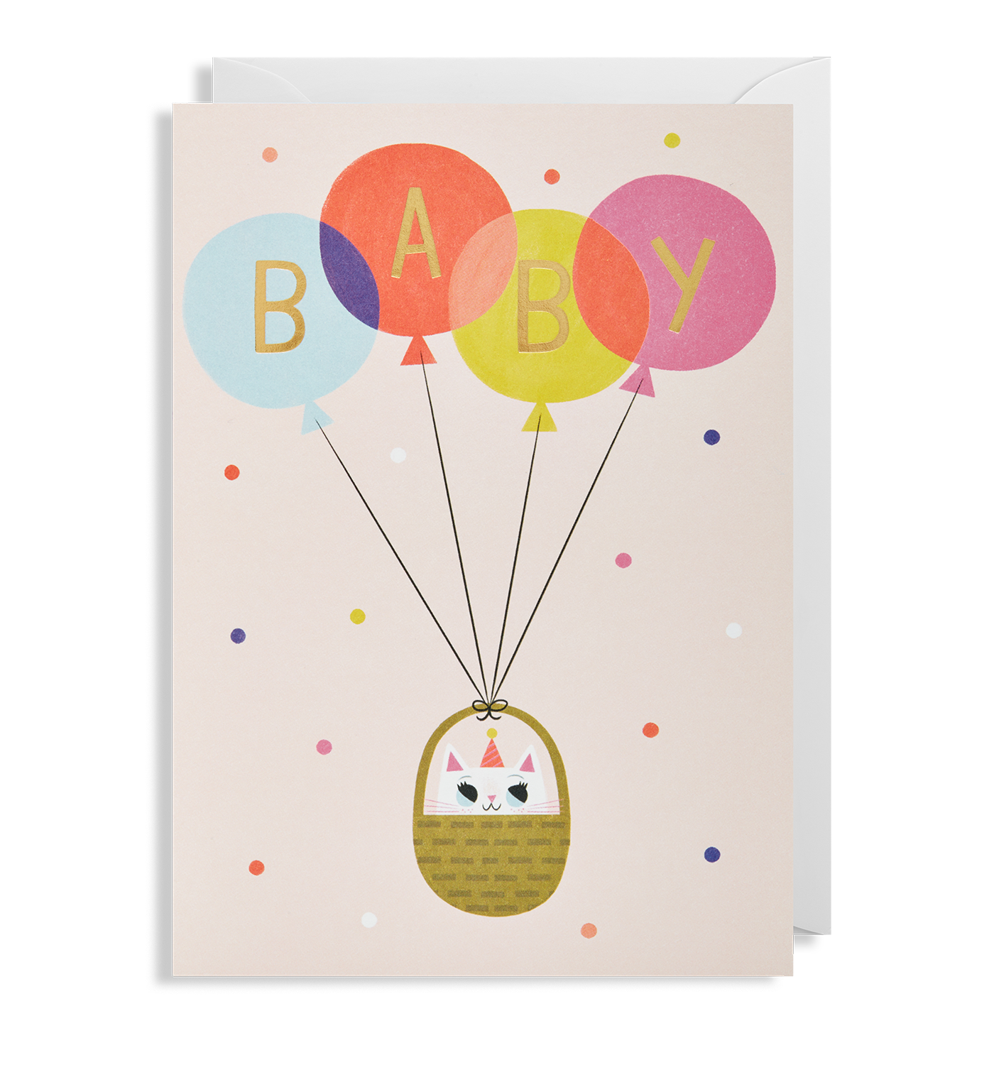 Baby girl greeting card by allison black lagom design baby girl greeting card lagom design kristyandbryce Image collections