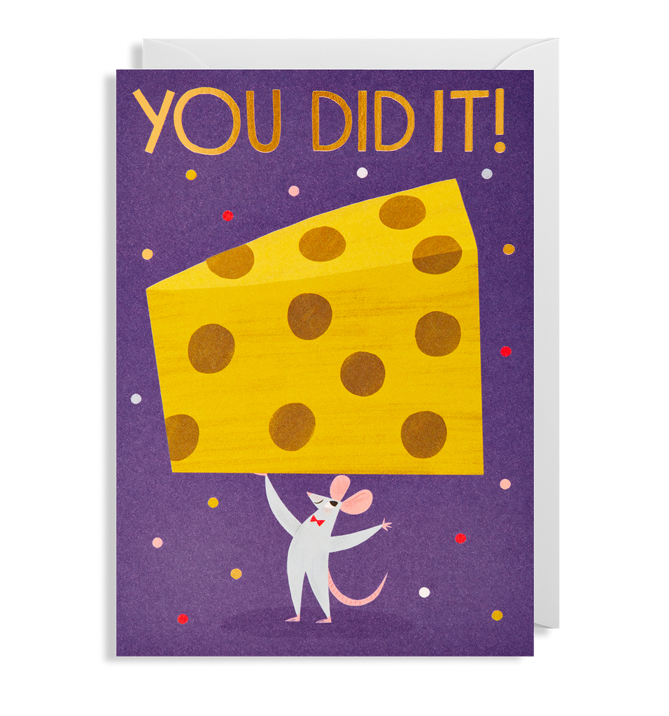 You Did It! Greeting Card - Lagom Design