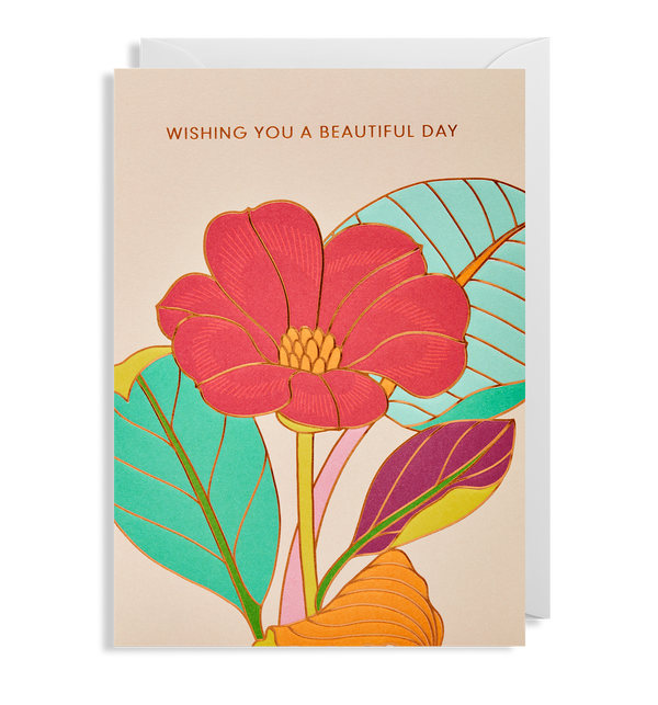 Wishing you a Beautiful Day Greeting Card - Lagom Design