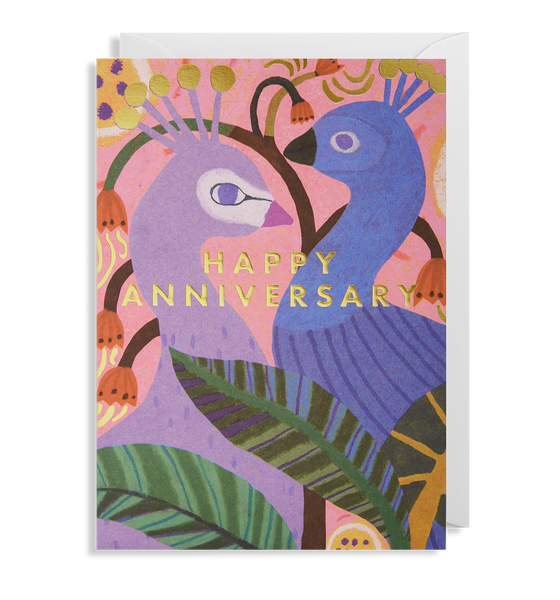 Happy Anniversary Peacock Greeting Card - Lagom Design