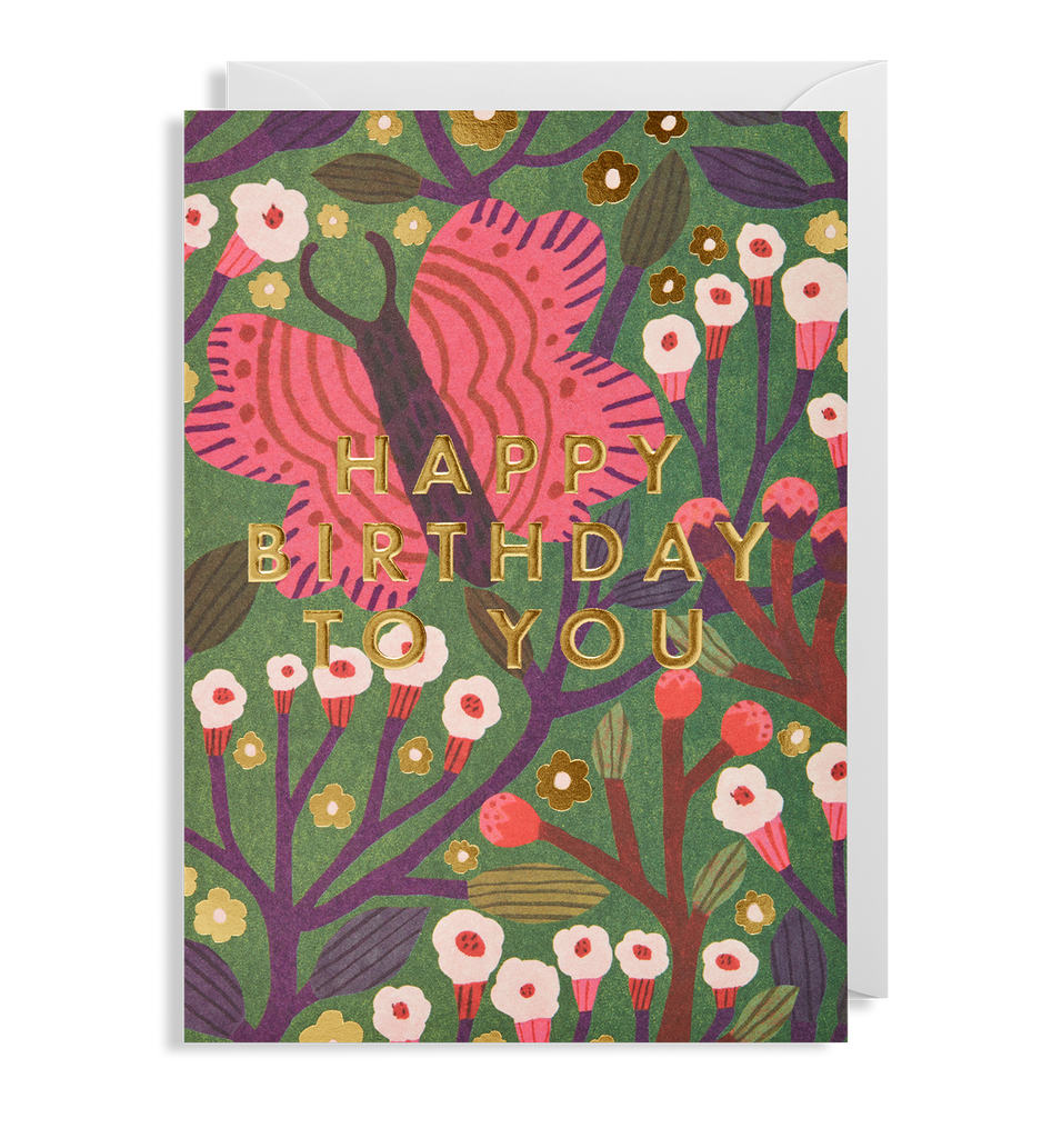 Happy Birthday To You Butterfly Greeting Card - Lagom Design