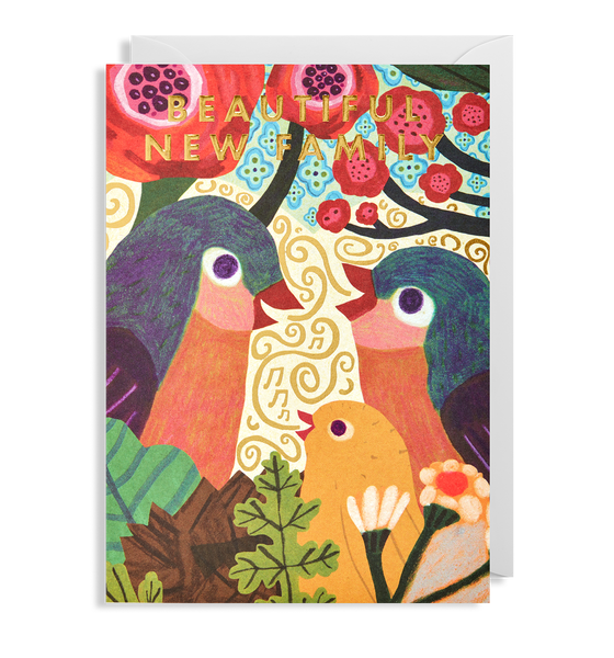 Beautiful New Family Birds Greeting Card - Lagom Design