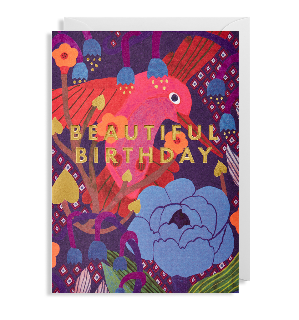 Beautiful Birthday Hummingbird Greeting Card - Lagom Design