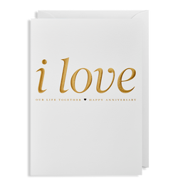 I Love our Life Together Greeting Card - Lagom Design