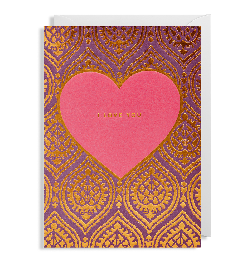 I Love You Greeting Card - Lagom Design