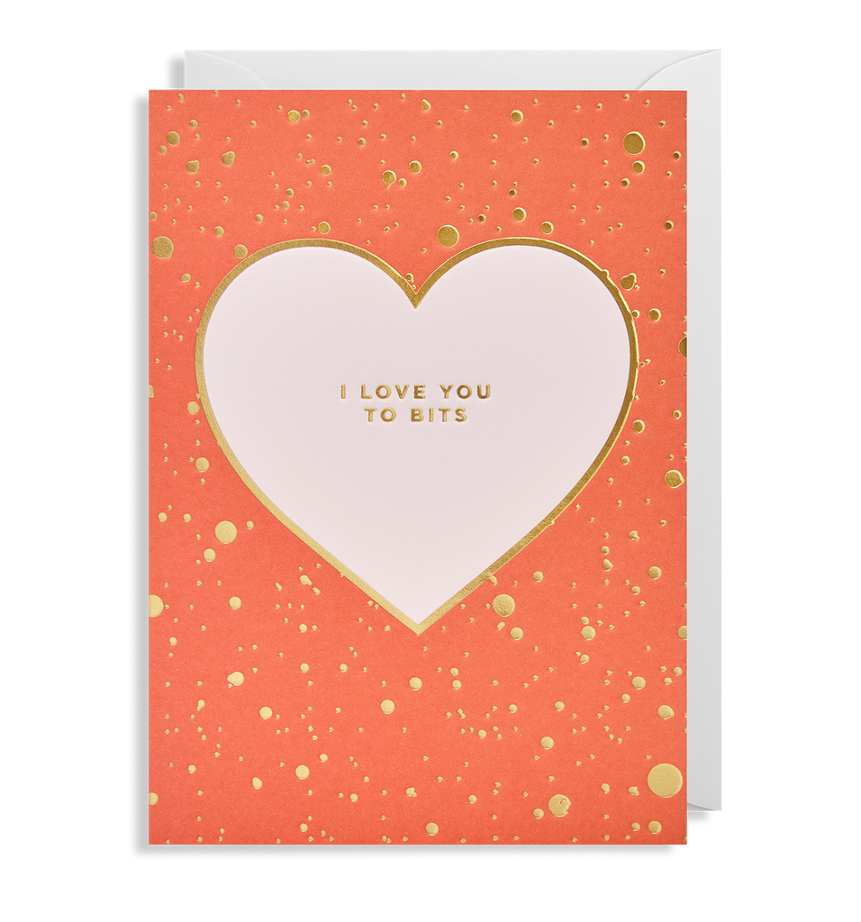 I Love You To Bits Greeting Card - Lagom Design
