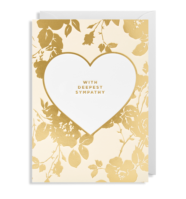 With Deepest Sympathy Greeting Card - Lagom Design