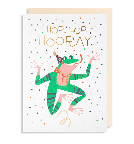 Hop Hop Hooray Greeting Card