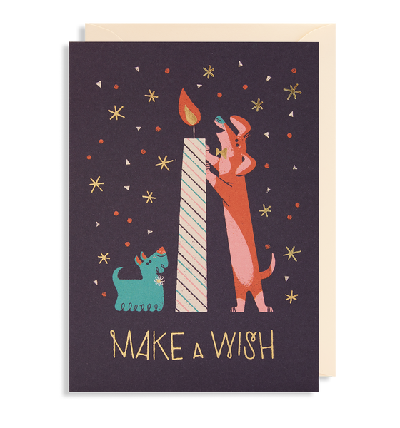 Make A Wish Greeting Card - Lagom Design