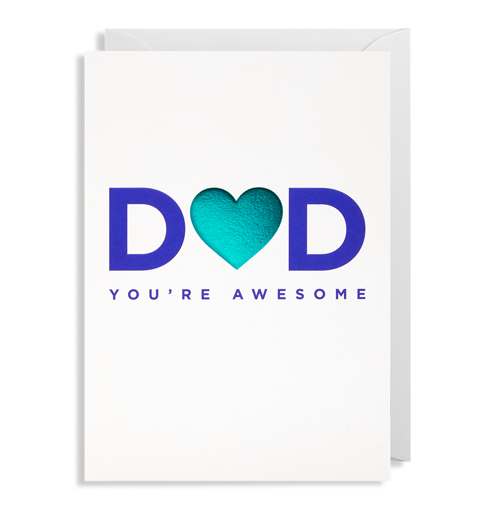 Dad You're Awesome Greeting Card - Lagom Design