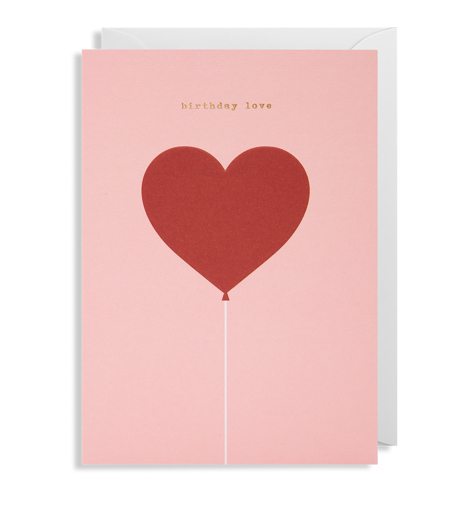 Birthday Love Greeting Card - Lagom Design