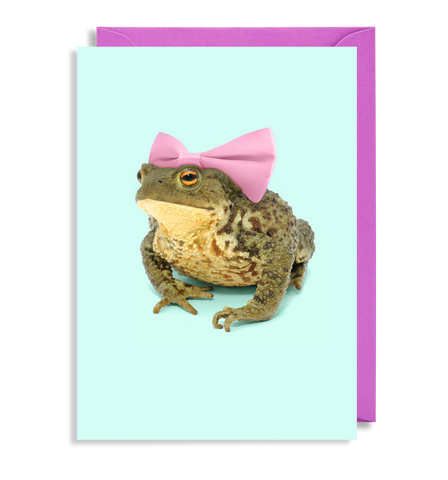 Bow Toad Greeting Card