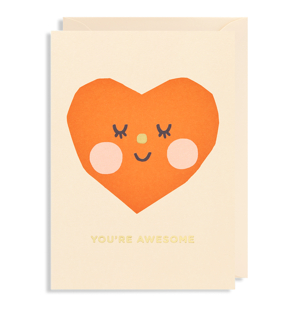 You're Awesome Greeting Card - Lagom Design