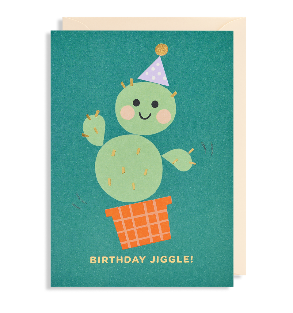 Birthday Jiggle! Greeting Card - Lagom Design
