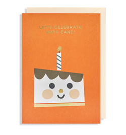 Let's Celebrate With Cake! Greeting Card - Lagom Design