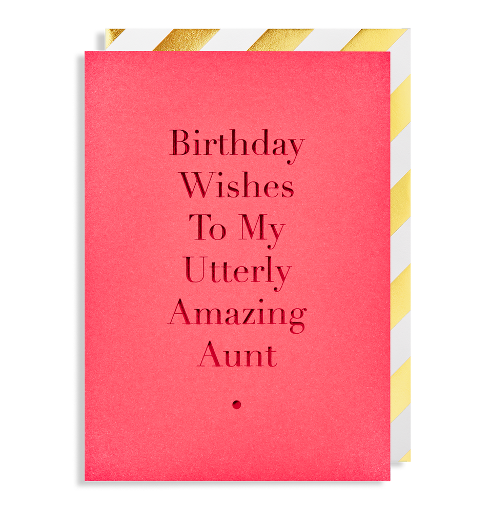 Utterly Amazing Aunt Greeting Card