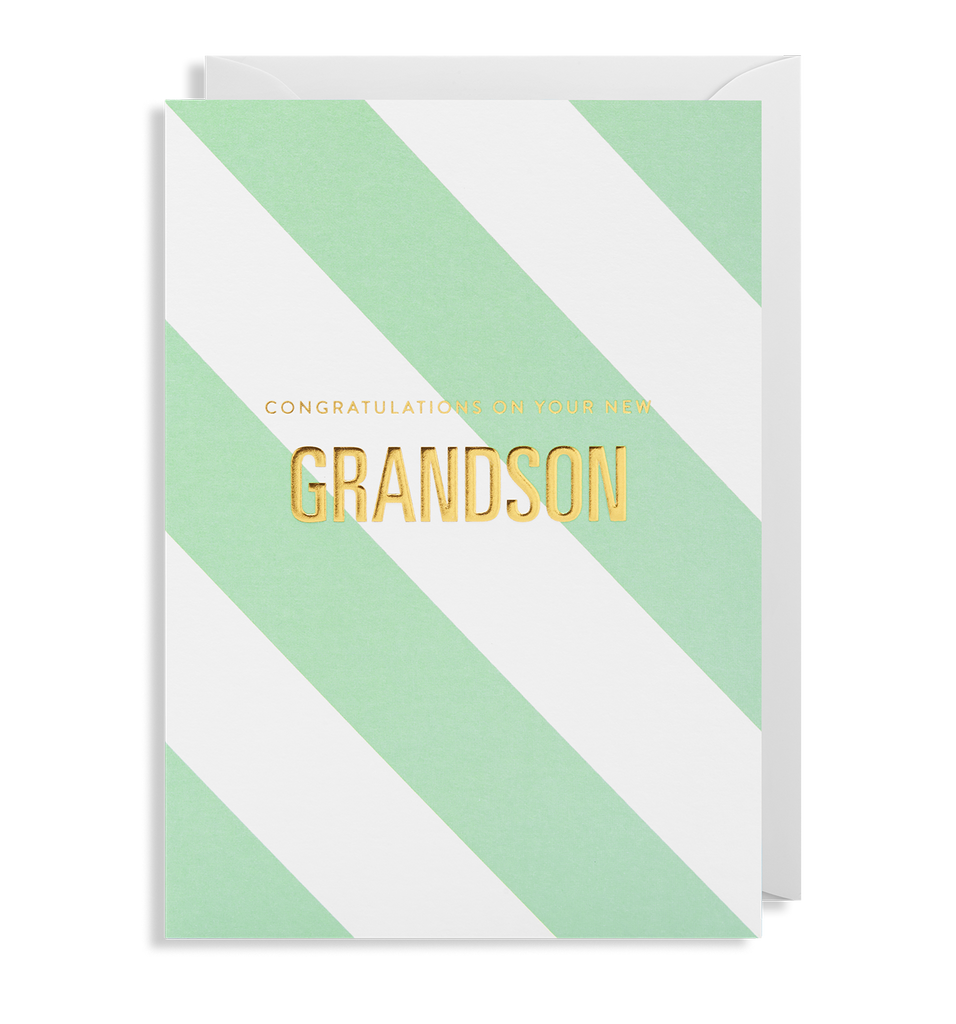 Congratulations On Your New Grandson Greeting Card - Lagom Design