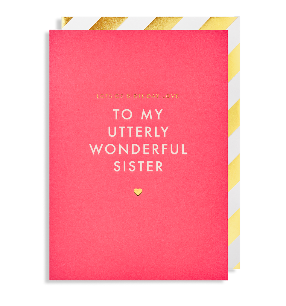 To My Wonderful Sister Greeting Card