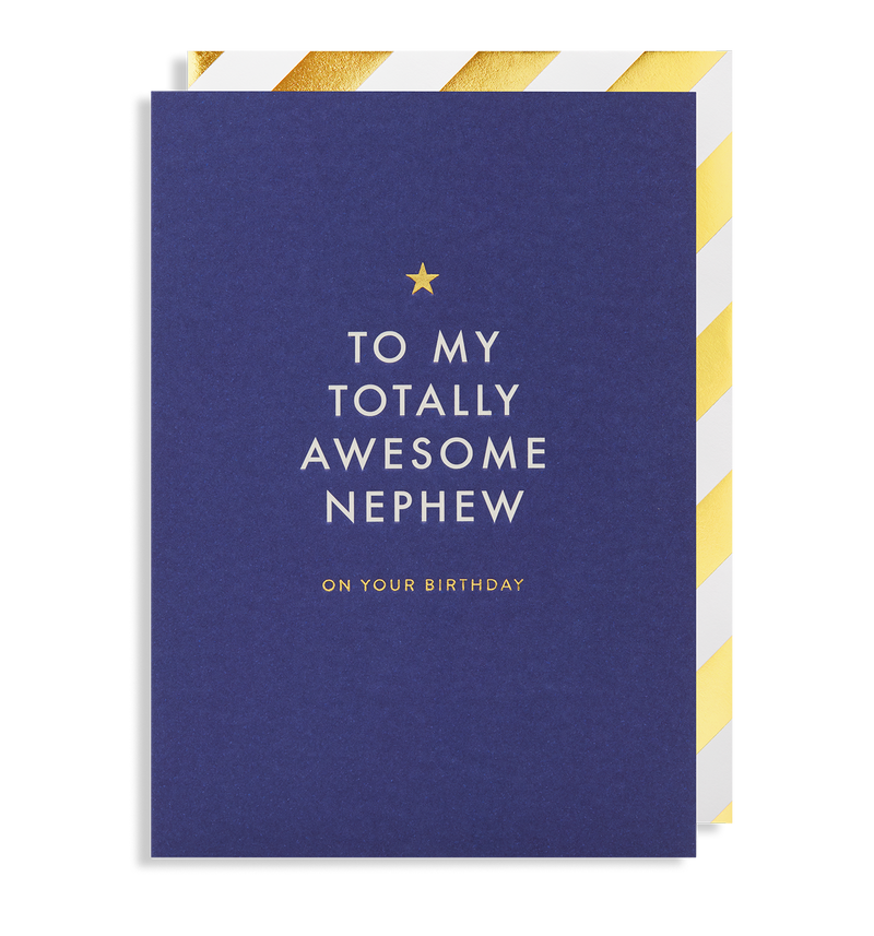 To My Totally Awesome Nephew - Lagom Design