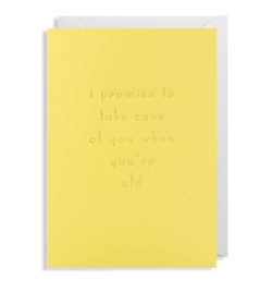 I Promise To Take Care Of You Greeting Card - Lagom Design