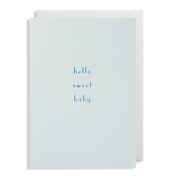 Hello Sweet Baby Greeting Card - Lagom Design