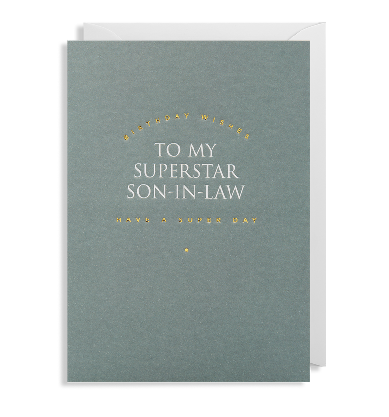 To My Superstar Son-in-law - Lagom Design