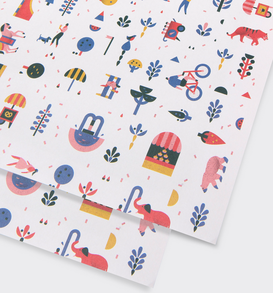 Central Park Light Gift Wrap - Lagom Design