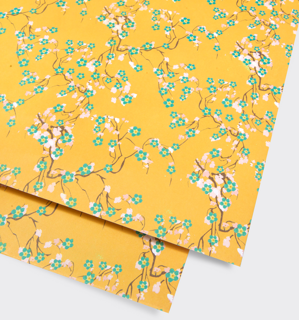 Yellow Blossom Gift Wrap - Lagom Design