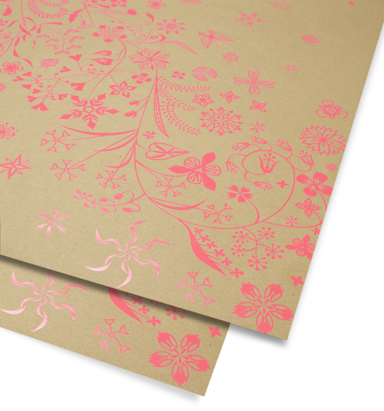 Wildflower Pink Gift Wrap