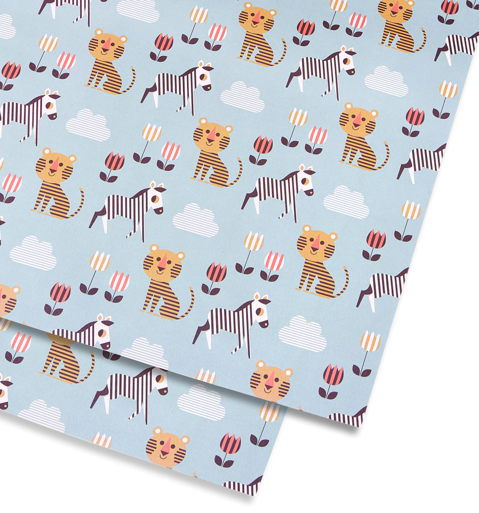 Tiger and Zebra Gift Wrap