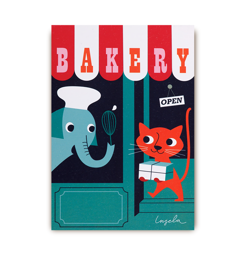 The Bakery Postcard